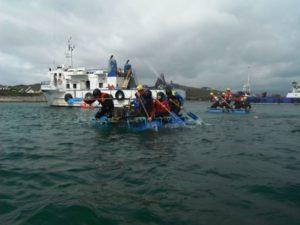 singles adventure weekend raftbuilding